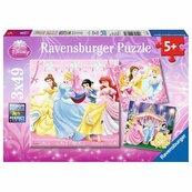 Puzzle 3x49 Królewna Śnieżka