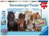 Puzzle 2x24 Konie