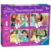 Puzzle 4w1 Księżniczki Disney 2