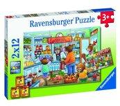 Puzzle 2x12 W supermarkecie