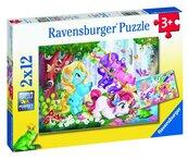 Puzzle 2x12 Magiczne jednorożce 2
