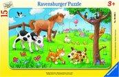 Puzzle 15 Miłosnicy słodkich zwierząt