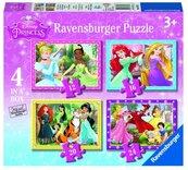 Puzzle 4w1 Księżniczki Disney