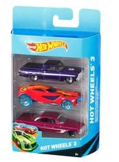 Hot Wheels Auto 1:64 K5904 trzypak p12 MATTEL mix