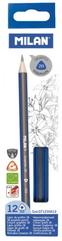Ołówek trójkątny 2B p12. MILAN,cena za 1szt