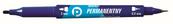 Marker dwustronny permanentny niebieski KM501-N2 p12. TETIS / cena za 1szt.