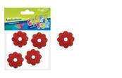 Ozdoba z pianki kwiaty brokatowe 15szt Craft with Fun