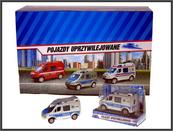 Mini Van Policja 8cm w pud. p24 HIPO, cena za 1szt.