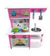 PROMO Kuchnia różowa ze zlewem, drewno w pud. 1001511