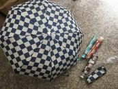 Parasol składany szachownica 485730 ADAR