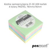 Kostka samoprzyl. pastel 76mmx76mm ZI-30 400 kartek