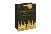 Torebka świąteczna płaska średnia choinka 26x32x12,8 cm BENIAMIN