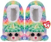 TY GEAR pantofle RAINBOW - kolorowy pudel roz. S (28-31) 95305 TY