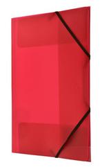 Teczka PP z gumka narożną A4 czerwona