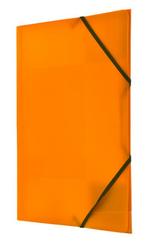 Teczka PP z gumka narożną A4 pomarańczowa