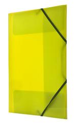 Teczka PP z gumka narożną A4 żółta
