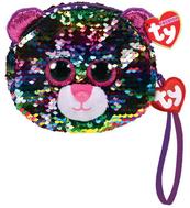 TY Fashion Sequins DOTTY - cekinowa torba na nadgarstek leopard 95224