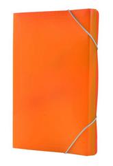 Teczka harmonijka PP z gumką narożną (13) A4 pomarańczowa TETIS