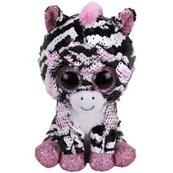 TY BOOS Flipables ZOEY 15 cm - cekinowa różowa zebra 36672
