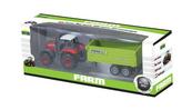 Traktor z przyczepą w pudełku p12 02478