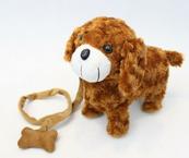 Pies na smyczy brąz 32cm NO-1002316