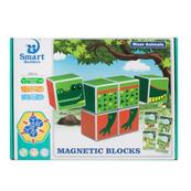 Klocki magnetyczne obrotowe 6el w pudełku 28x21x6cm 308 MC