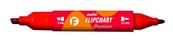 Marker Flipchart dwie końcówki czerwony KM503-C2 p12 TETIS, cena za 1szt.