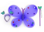 Skrzydelka motylka ze światłem mix kolorów w worku