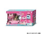 Auto z lalką i akcesoriami w pudełku G123173