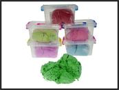 """Masa plastyczna """"Bawełna"""" 1250gram 6-kolorów w skrzyneczce cena za 1 szt"""