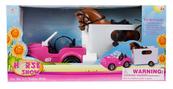 Auto dla lalki + koń + akcesoria 63x30x21cm MC
