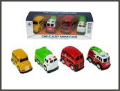Zestaw autobus bus śmieciarka straż 8cm w pudełku