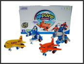 Robot samolot 13cm mix kolorów p8 517-3 Cena za 1szt