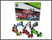Wyścigówka metalowa 13cm mix kolorów p8