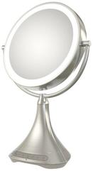 iHome iCVBT7 Przenośne dwustronne lusterko kosmetyczne 23cm/ głośnik/ zestaw głośnomówiący, port USB, Bluetooth