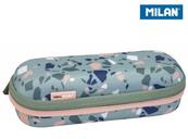 Piórnik owalny usztywniany Terrazzo zielono-różowy 081145TZG MILAN