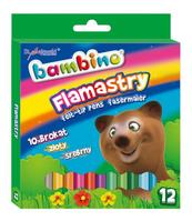 Flamastry brokatowe 12kol BAMBINO standard Cena za 1szt