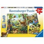 Puzzle Zwierzęta 3x49