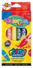 Flamastry dwustronne z pieczątkami 6 kol Colorino Kids
