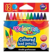 Kredki grafionowe 12 kol. Colorino Kids