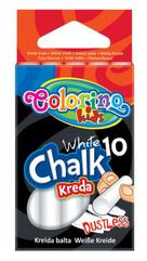 Kreda biała bezpyłowa 10 szt Colorino Kids 33138