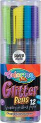 Długopisy brokatowe trójkątne 12 kol. Colorino Kids 32469