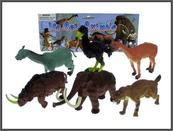 Zwierzęta dzikie 13-15cm 6 wzorów