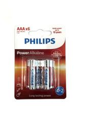 Bateria PHILIPS LR03 Power Alkaline op6szt cena za op