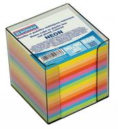 Kostka DONAU nieklejona, w pudełku 90x90x85mm 800 kartek, neon, mix kolorów