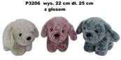 Pies z głosem 3 kolory 157522 Cena za 1szt