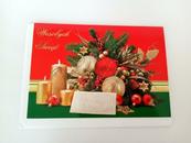 PROMO Karnet złoty poziomy Boże Narodzenie (stroik z opłatkiem) p5 Verte cena za 1szt