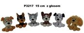 Pies z głosem 6 wzorów 15 cm Cena za 1szt