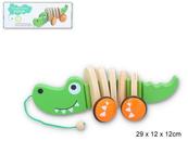 Drewniany krokodyl do ciągnięcia 6259 GAZELO