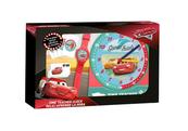 Zestaw do nauki o czasie z zegarkiem i kartami do gry Cars WD19966 Kids Euroswan